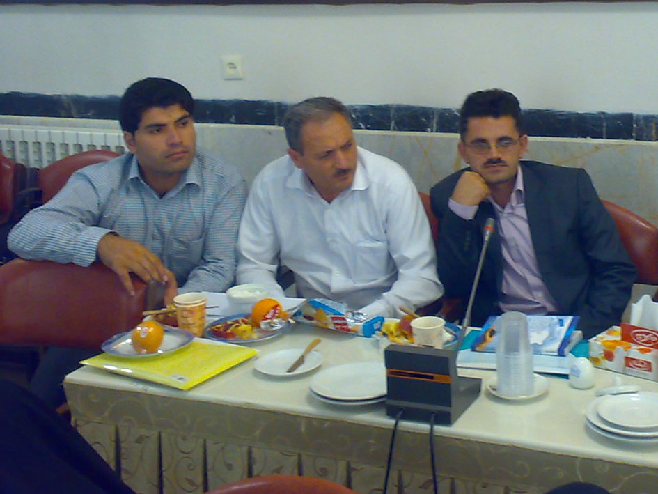 از سمت راست علی اكبر ادهم، صادق فهیمی و مهدی علی پور